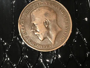 1917 UK Penny Coin