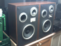 RARE VINTAGE ZENITH ALLEGRO 2500 3 WAY STEREO SPEAKERS