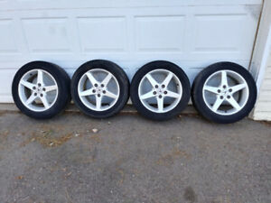 acura /civic rims and tires 205/55/16