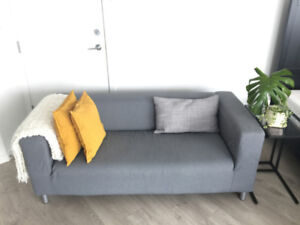 LOVESEAT COUCH - GREY