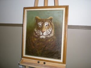 BEAUTIFUL OIL ON CANVAS TIGER