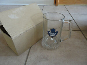 Toronto Maple Leafs glass Beer stein mug Brand new in box