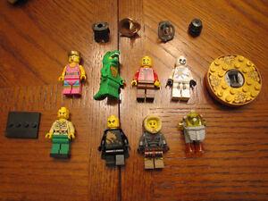 Lot de figurines Légo avec accessoires