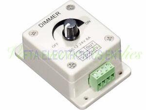 LED Dimmer for 12 Volt to 24 Volt DC Applications 12V-24V 8Amp