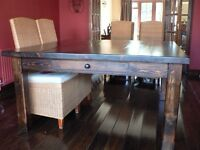 Large reclaimed pine dining table
