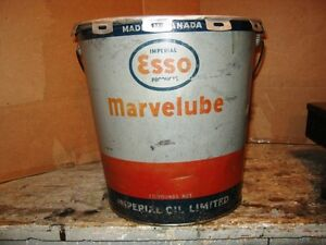 Esso Marvelube Grease Pail