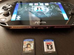 PS Vita + games + 4gb