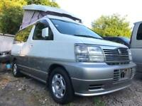 2002 NISSAN ELGRAND FULL SIDE CONVERSION 4 BERTH FACTORY POP TOP CAMPERVAN LPG
