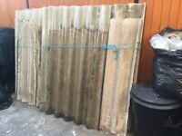 Free - Fibre cement big six corrugated roof sheets.