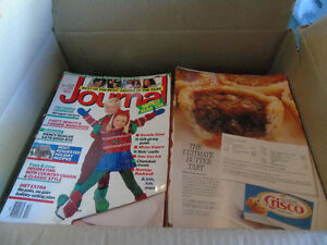 Box full of Christmas Magazines
