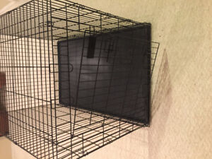 LARGE COMPACT METAL DOG CRATE 48x33