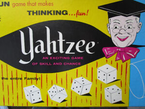 VINTAGE-1956-Lowe-YAHTZEE-Board-Game-COMPLETE-Dice-Game