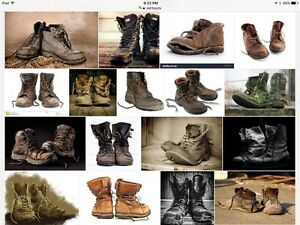 LF:  Men's Boots, size 9 or bigger