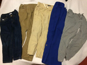 5 pairs of boys pants -size 5/5T