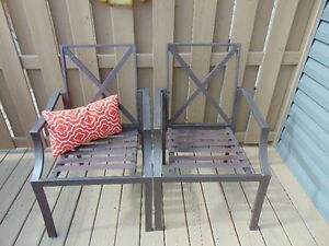 Set of 2 Metal patio chairs - $40.00 each.