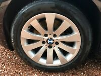 "BMW WINTER TYRES. Genuine 5GT or 7 series 18"" Alloy Wheels & Winter Tyres vgc £480"