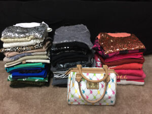 New Year/New You!? 55 women's med tops plus purse & workout wear