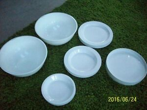 HEAVY DUTY PLASTIC DISHES SERVICE FOR 6