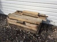 Free pallet box with dirt