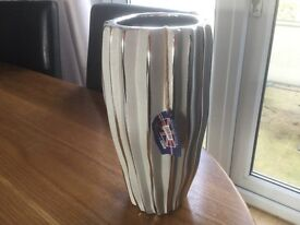 Lovely Silver Hand Crafted Vase New in Box
