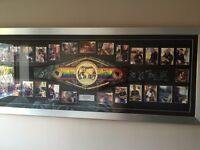 Commonwealth title boxing belt signed