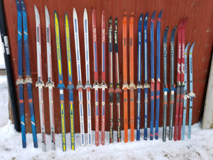 6 pairs of cross country skis