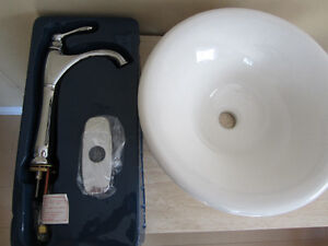 NEW Vessel Sink and tap / faucet Bathroom vanity ready