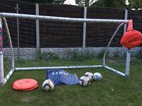Sanba goal, kipsta the kage goal, Mitre match balls, football cones