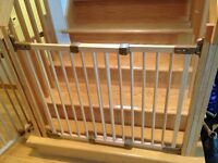 """2 safety gates with variable lengths 23"""" - 50"""""""