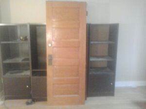 Antique doors with original brass hardware and hinges 93 yr old