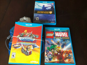 THREE NINTENDO Wii U GAMES, INCL. SKYLANDERS AND LEGO MARVEL