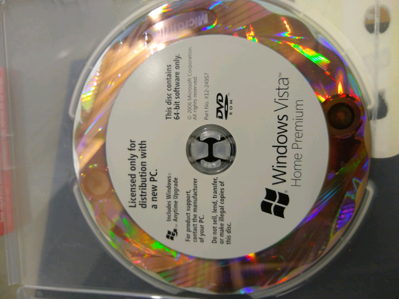 windows vista home installation disc