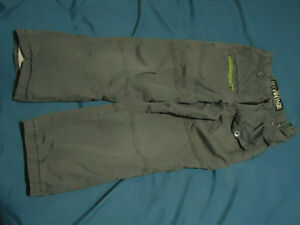 Boys size 6X grey sizeable cotton lined cargo pants