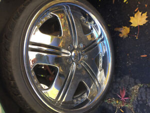 DUB 20 inch chrome rims for sale or trade
