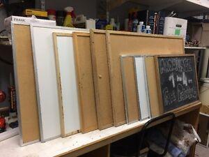 Cork boards - white boards - chalkboards - several sizes