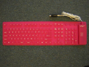 Omnitech foldable portable silicon  keyboard