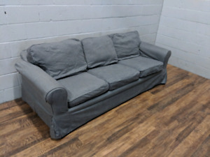 (Free Delivery) - Grey Ikea Ektorp 3-seater sofa