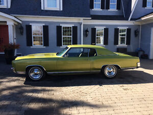 1972 CHEVROLET MONTE CARLO with 28,900 ORIGINAL MILES