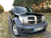 LATE 2007 57 DODGE NITRO 2.8 CRD 4WD 6 SPEED TURBO DIESEL MANUAL BLACK PX SWAP