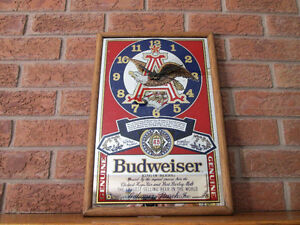 BUDWEISER ADVERTISING CLOCK, UNIQUE AND VERY NICE!