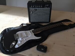 Squire Affinity Series Strat Electric Guitar and Fender Amp