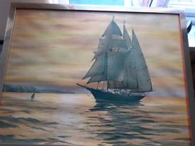 watercolour by renowned marine artist Winston Megoran.