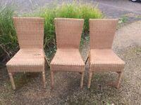 5 IKEA weaved/rattan chairs