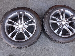 205 55/16 Winter tires on alloy wheels