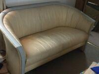 Italian leather - 2 person sofa - FREE