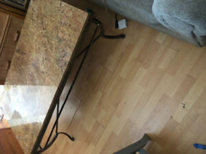 Marble top coffee table $200