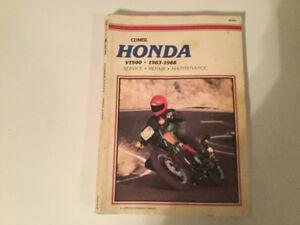 Honda VT500 1983-1988 Shop Manual  VT500FT Ascot VT500C Shadow