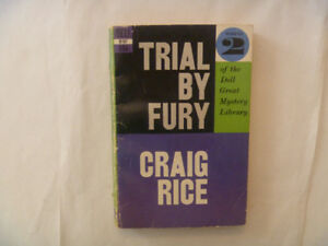 CRAIG RICE - Trial By Fury - 1st Printing 1957 Paperback