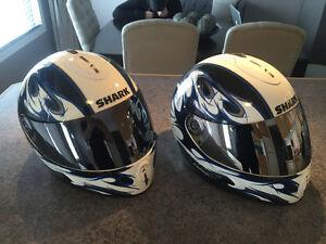 2 Shark Helmets