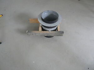 Insulated 6 inch pipe ceiling support
